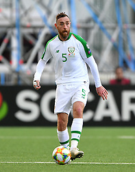 Republic of Ireland's Richard Keogh during the UEFA Euro 2020 Qualifying, Group D match at the Victoria Stadium, Gibraltar.