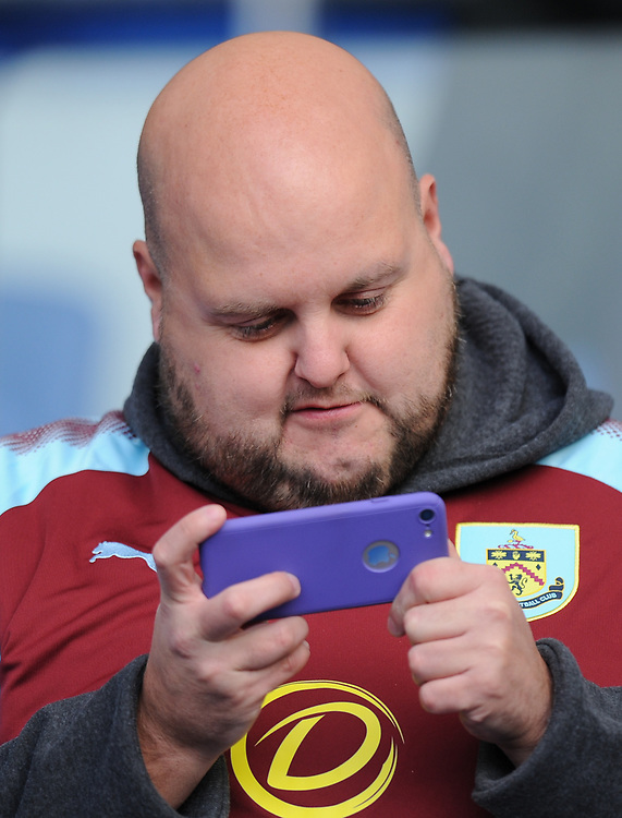 Burnley fans at The Amex Stadium<br /> <br /> Photographer Ashley Western/CameraSport<br /> <br /> The Premier League - Brighton and Hove Albion v Burnley - Saturday 16th December 2017 - The Amex Stadium - Brighton<br /> <br /> World Copyright © 2017 CameraSport. All rights reserved. 43 Linden Ave. Countesthorpe. Leicester. England. LE8 5PG - Tel: +44 (0) 116 277 4147 - admin@camerasport.com - www.camerasport.com
