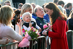 February 27, 2019 - Belfast, United Kingdom - Image licensed to i-Images Picture Agency. 27/02/2019. Belfast , Northern Ireland, United Kingdom. The Duke and Duchess of Cambridge arriving at  the Irish Football Association at  Windsor Park in Belfast,  on the first day of their two day trip to Northern Ireland. Pic: i-Images/ Pool (Credit Image: © i-Images via ZUMA Press)