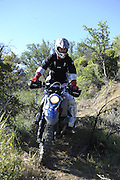Gary Kepple riding his BMW HP2 during the pit competition at 2010 Rawhyde Adventure Rider Challenge