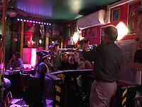 selfies in a bar-Paris