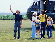 President Jimmy Carter disembarks Marine One - arriving in Plains, GA. With the President is his mother, Lillian Carter, daughter Amy accompanied by her nanny, Mary Prince. Ms. Prince, a black woman, -once convicted of murder in Georgia - was assigned to work as a trustee at the Georgia governor's mansion in a work-release program. Governor Carter became acquainted with Ms. Prince and was firmly convinced that she was innocent of the murder charge. Carter later applied to be Ms. Princes' parole officer so that she could come to the White House to become Amy's nanny. Later, Prince was pardoned .