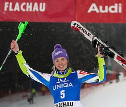 20-12-2011 SKIEN: FIS WORLD CUP: FLACHAU<br /> Third place Tina Maze of Slovenia on Podium Slalom at FIS Ski Alpine Worldcup<br /> **NETHERLANDS ONLY** <br /> ©2011-FotoHoogendoorn.nl/EXPA/ Johann Groder