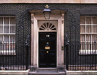 front door of 10 Downing st London