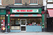 Exterior of the Fryers Delight Fish and Chip Shop on 13th October 2015 along Theobalds Road in London, United Kingdom. The Fryer's Delight is a classic fish and chip restaurant and take away