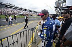 October 8, 2017 - Concord, NC, USA - NASCAR driver Dale Earnhardt Jr., makes his way to the drivers introduction stage prior to the start of the Bank of America 500 at Charlotte Motor Speedway in Concord, N.C., on Sunday, Oct. 8, 2017. (Credit Image: © David T. Foster Iii/TNS via ZUMA Wire)