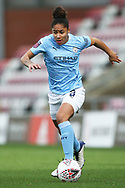 Portrait full length Manchester City defender Demi Stokes (3) during the FA Women's Super League match between Manchester United Women and Manchester City Women at Leigh Sports Village, Leigh, United Kingdom on 14 November 2020.