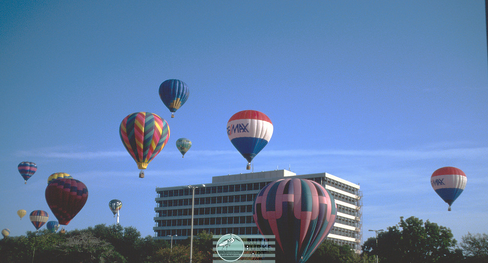 Two Re-Max Hot Air Balloons.