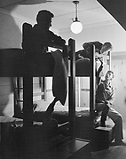 Y-501108-11.  Bunk beds in Timberline Lodge. November 8, 1950