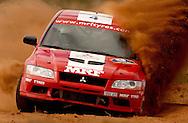 Armin Kremer (GER) & Berssen Fred (GER).Mitsubishi Lancer Evo VII.2003 Rally of Canberra .Canberra, ACT, Australia.25-27th of April 2003.(C) Joel Strickland Photographics