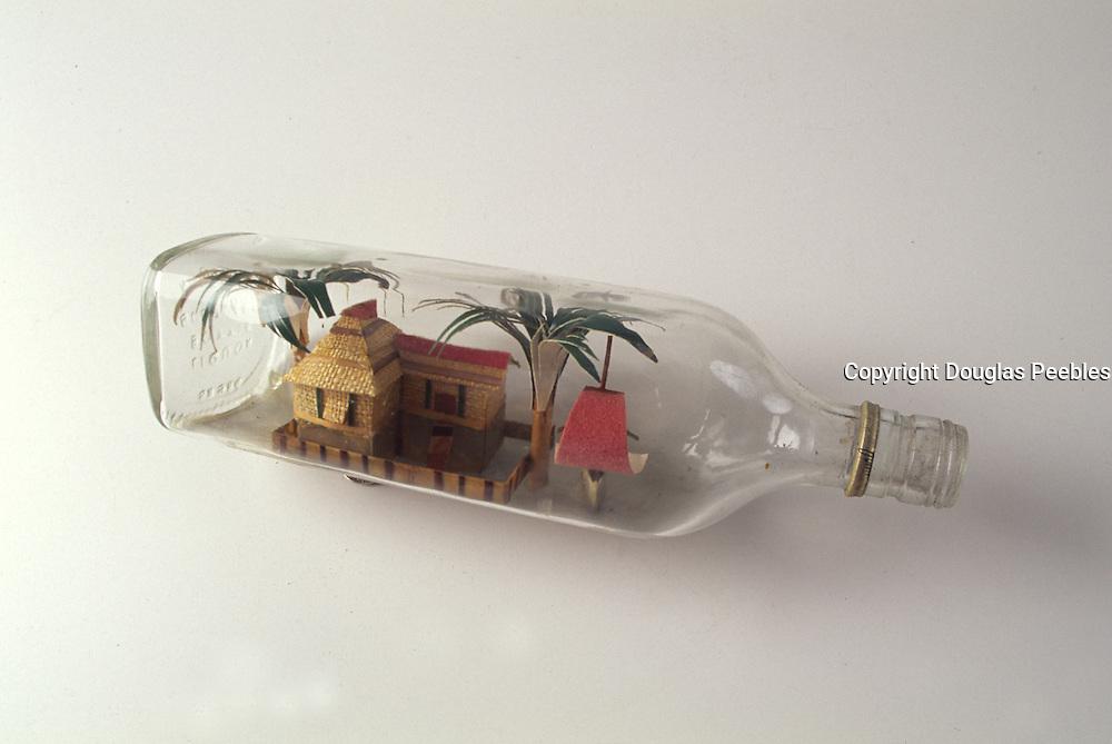 Grass shack in a bottle<br />