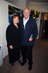 Actor JULIAN GLOVER and his wife at the Sotheby's Summer Party 2007 at their showrooms in New Bond Street, London on 4th June 2007.<br />