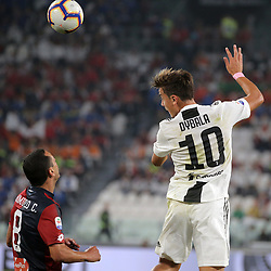 October 20, 2018 - Turin, Turin, Italy - Paulo Dybala #10 of Juventus FC competes for the ball with Romulo #8 of Genoa CFC during the serie A match between Juventus FC and Genoa CFC at Allianz Stadium on October 20, 2018 in Turin, Italy. (Credit Image: © Giuseppe Cottini/NurPhoto via ZUMA Press)