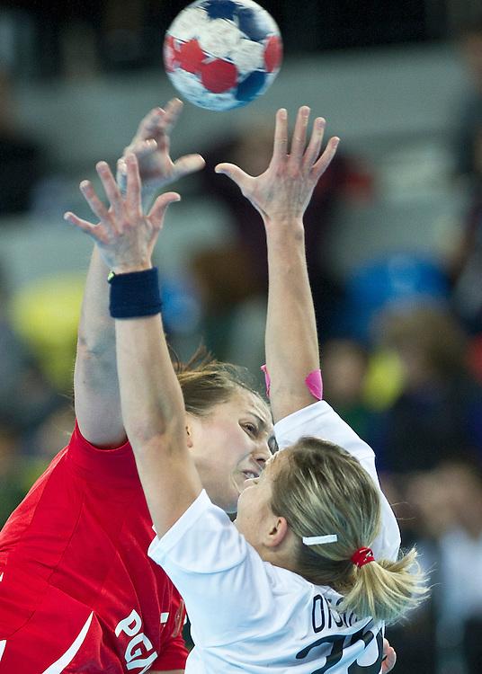 London Handball Cup - Slovakia vs Poland - Malgortzata Stasiak (POL), Alzbeta Tothova (SVK)