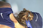 Trakai, LITHUANIA. USA JW8+  Cox Kate GORMAN, 2002 Junior World Rowing Championships, on Lake Galva Wednesday  07/08/2002 [Mandatory Credit: Peter Spurrier/ Intersport Images] 200208 Junior World Rowing Championships, Trakai, LITHUANIA