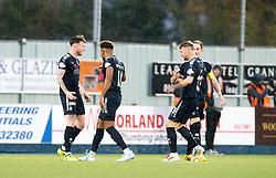 Falkirk's Jordan McGhee cele scoring their goal. Falkirk 1 v 1 Dunfermline, Scottish Championship game played 4/5/2017 at The Falkirk Stadium.