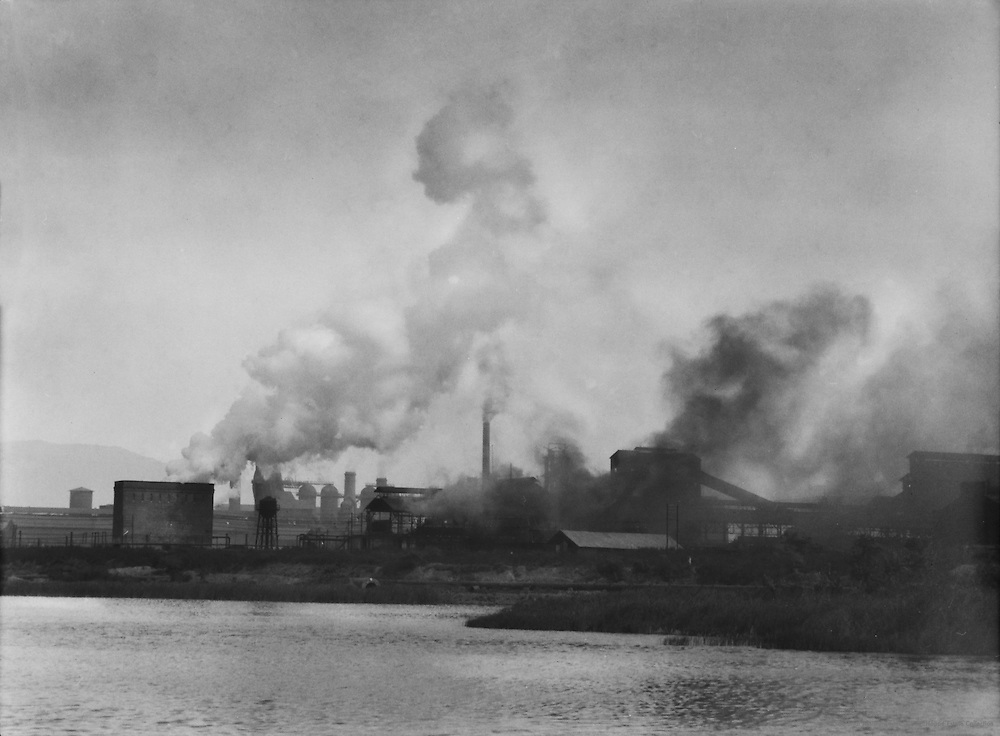 View of the Steam From the Quenching Tower, Tata Iron & Steel Works, Jamshedpur, India, 1929