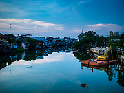 23 DECEMBER 2018 - CHANTABURI, THAILAND:  The riverfront of the Chantaburi River. Chantaburi is the capital city of Chantaburi province on the Chantaburi River. Because of its relatively well preserved tradition architecture and internationally famous gem market, Chantaburi is a popular weekend destination for Thai tourists.   PHOTO BY JACK KURTZ