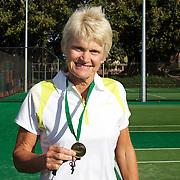 Kerry Ballard, Australia, 60 Womens Singles Winner during the 2009 ITF Super-Seniors World Team and Individual Championships at Perth, Western Australia, between 2-15th November, 2009.