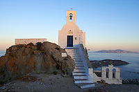 Grece, Cyclades, ile de Serifos, la capital Hora, eglise Agios Constantinos // Greece, Cyclades Islands, Serifos island, Hora the capital city, Agios Constantinos church