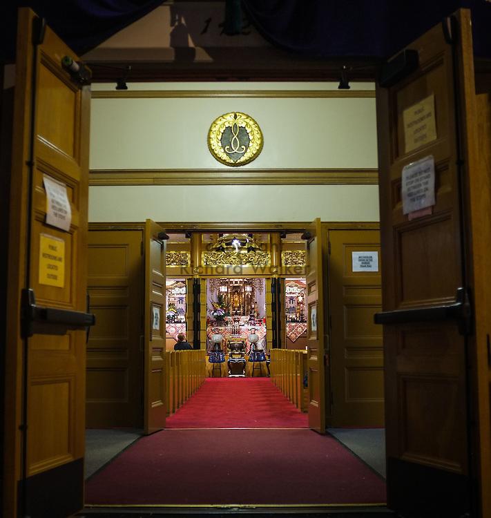 2014 July 19 - Interior of Seattle Betsuin Buddhist Temple, Seattle, WA. By Richard Walker