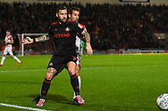 Chris Maguire of Sunderland (7) holds off his marker during the EFL Sky Bet League 1 match between Doncaster Rovers and Sunderland at the Keepmoat Stadium, Doncaster, England on 23 October 2018.