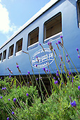 All aboard the vintage train carriages turned into a seaside hotel