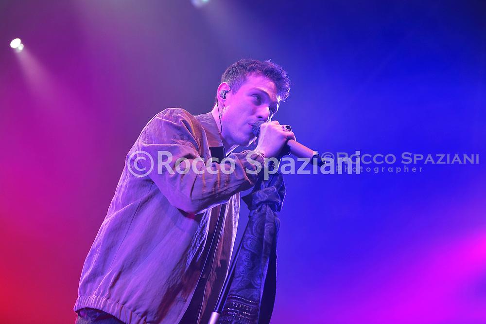 Irama Aka Filippo Maria Fanti  Performs In Concert on March 9, 2019 in Rome, Italy.