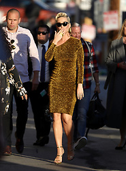 Katy Perry glitters in gold as she makes an appearance at Jimmy Kimmel show. 25 Feb 2019 Pictured: Katy Perry. Photo credit: APEX / MEGA TheMegaAgency.com +1 888 505 6342