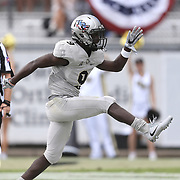 ORLANDO, FL - NOVEMBER 11: Adrian Killins Jr. #9 of the UCF Knights celebrates after scoring a touchdown during a NCAA football game between the University of Connecticut Huskies and the UCF Knights on November 11, 2017 in Orlando, Florida. (Photo by Alex Menendez/Getty Images) *** Local Caption *** Adrian Killins Jr.