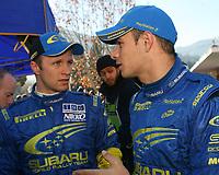 Motor<br /> Foto: Dppi/Digitalsport<br /> NORWAY ONLY<br /> <br /> AUTO - WRC 2006 - MONTE CARLO RALLY - MONACO 20/01/2006 <br /> <br /> PETTER SOLBERG (NOR) / STEPHANE SARRAZIN (FRA) / SUBARU IMPREZA WRC - AMBIANCE - PORTRAIT