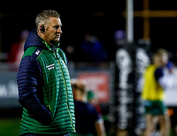 Forwards Coach Jimmy Duffy of Connacht during the pre match warm up<br /> <br /> Photographer Simon King/Replay Images<br /> <br /> Guinness PRO14 Round 7 - Ospreys v Connacht - Friday 26th October 2018 - The Brewery Field - Bridgend<br /> <br /> World Copyright © Replay Images . All rights reserved. info@replayimages.co.uk - http://replayimages.co.uk