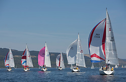 Sailing - SCOTLAND  - 25th-28th May 2018<br /> <br /> The Scottish Series 2018, organised by the  Clyde Cruising Club, <br /> <br /> First days racing on Loch Fyne. Sigma 33 fleet with GBR4603, Vendeval, Colin Greer, HSC, Sigma 33<br /> <br /> Credit : Marc Turner<br /> <br /> <br /> Event is supported by Helly Hansen, Luddon, Silvers Marine, Tunnocks, Hempel and Argyll & Bute Council along with Bowmore, The Botanist and The Botanist