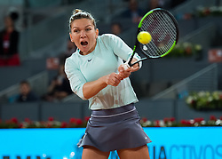 May 8, 2019 - Madrid, MADRID, SPAIN - Simona Halep of Romania in action during her third-round match at the 2019 Mutua Madrid Open WTA Premier Mandatory tennis tournament (Credit Image: © AFP7 via ZUMA Wire)