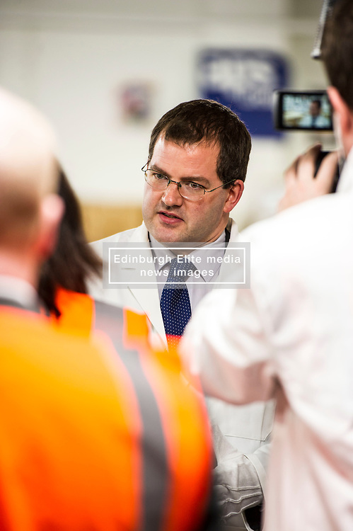 Pictured: Mark McDonald<br /> Minister for Childcare and Early Years, Mark McDonald, was joined by Scotland's chief medical officer, Dr Catherine Calderwood, when he visited the Baby Box distribution centre in Edinburgh ahead of the nationwide roll-out.<br /> Ger Harley | EEm 14 August  2017