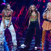 NLD/Hilversum/20190201- TVOH 2019 1e liveshow, optreden Little Mix met Debrah Jade en Kimberly Fransens