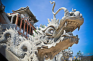 Stone-carved dragon statue of Trung Son pagoda, Khanh Hoa Province, Vietnam, Southeast Asia