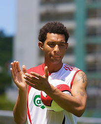 Hong Kong, China - Wednesday, July 25, 2007: Liverpool's Jermaine Pennant during a coaching session with local children at the Siu Sai Wan Sports Ground in Hong Kong. (Photo by David Rawcliffe/Propaganda)