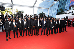May 15, 2019 - Cannes, Alpes-Maritimes, Frankreich - Director Ladj Ly and the cast and crew attending the 'Les Misérables' premiere during the 72nd Cannes Film Festival at the Palais des Festivals on May 15, 2019 in Cannes, France (Credit Image: © Future-Image via ZUMA Press)
