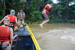 Ryan Dunkley Jumping Into The River, Tiputini