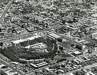 1958 Aerial photo of Barnsdall Park