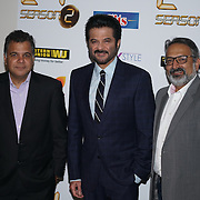 London,England,UK, 17th Aug 2016 : Raj Nayak,Anil Kapoor and Raj Nayak the Photocall with international superstar, actor Anil Kapoor in the Season 2 of the hit TV series, '24', on Colors at The Montcalm Hotel, London,UK. Photo by See Li