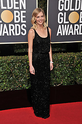 Samara Weaving at the 75th Golden Globe Awards held at the Beverly Hilton in Beverly Hills, CA on January 7, 2018.<br /><br />(Photo by Sthanlee Mirador)