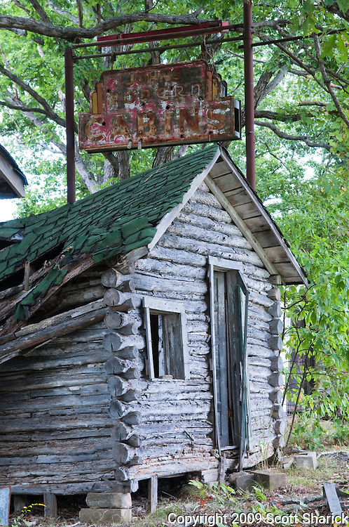 An old cabin along Route 66 used for overnight rest for weary travelers. Missoula Photographer