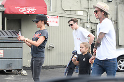 EXCLUSIVE: David and Victoria Beckham treat their kids to Salt and Straw ice cream. 24 Jul 2017 Pictured: David Beckham and Victoria Beckham. Photo credit: MEGA TheMegaAgency.com +1 888 505 6342
