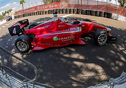 March 9, 2019 - St. Petersburg, FL, U.S. - ST. PETERSBURG, FL - MARCH 09:  driver Julien Falchero (4) during the Indy Lights Race of St. Petersburg on March 9 in St. Petersburg, FL. (Photo by Andrew Bershaw/Icon Sportswire) (Credit Image: © Andrew Bershaw/Icon SMI via ZUMA Press)