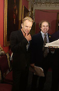 Alexander Waugh and Sting, Literary Review Bad Sex in Fiction Award. In and Out Club, St. James, Sq. 3 December 2003. © Copyright Photograph by Dafydd Jones 66 Stockwell Park Rd. London SW9 0DA Tel 020 7733 0108 www.dafjones.com