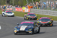 #11 Kelvin Fletcher / Martin Plowman Beechdean AMR Aston Martin V8 Vantage GT4 Pro/Am GT4  during British GT Championship race two as part of the British F3 / GT Championship at Oulton Park, Little Budworth, Cheshire, United Kingdom. April 22 2019. World Copyright Peter Taylor/PSP. Copy of publication required for printed pictures.