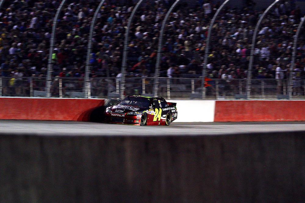 May 12, 2012; Darlington, SC, USA; NASCAR Sprint Cup driver Jeff Gordon (24) during the Southern 500 at Darlington Raceway. Mandatory Credit: Peter Casey-US PRESSWIRE.