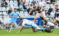 Durban. 250818. Ruan Nortje of the Bulls during the Currie Cup match between the Sharks and the Vodacom Bulls at Kings Park stadium, Durban South Africa. Picture Leon Lestrade. African News Agency. ( ANA ).